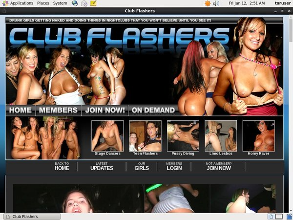 Club Flashers Checkout Page