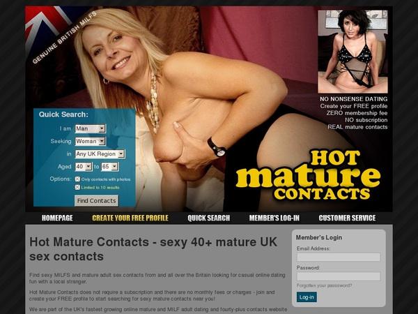 Daily Hotmaturecontacts.com Account
