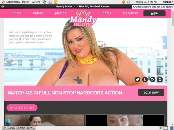 Working Mandy Majestic Password