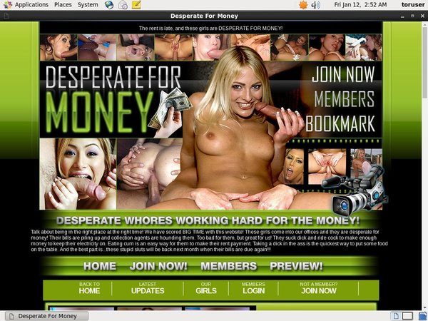 Desperate For Money Free Preview
