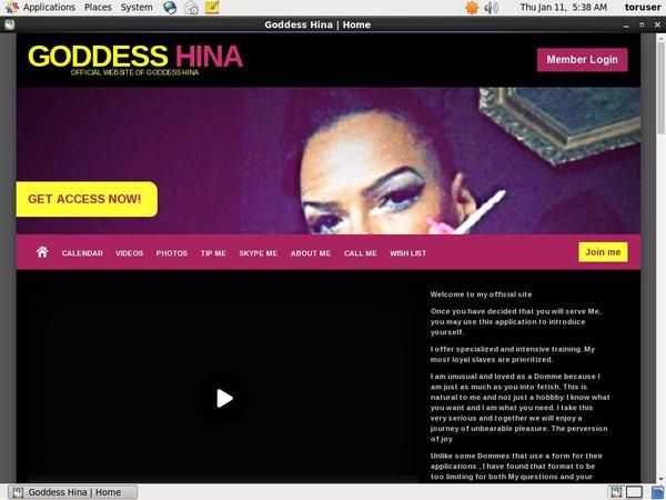 Goddess Hina With Euros