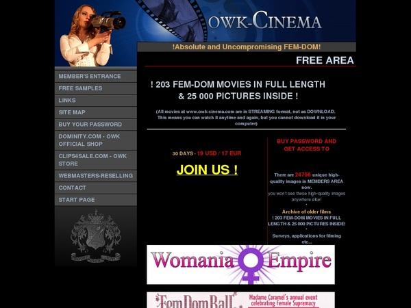 Owk Cinema Password Free