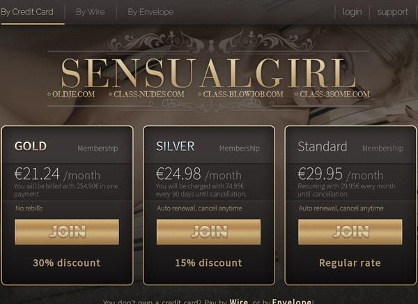 New Free Sensualgirl.com Accounts